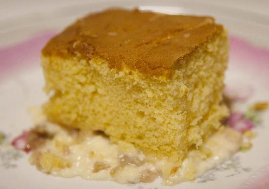 Rhubarb Custard With Cake Mix