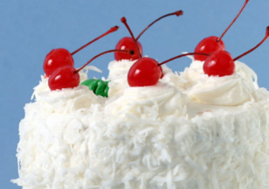 Snow on the Mountain Cake