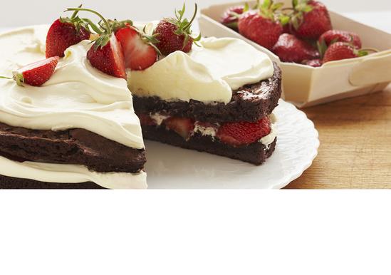 Strawberry Brownie Shortcake