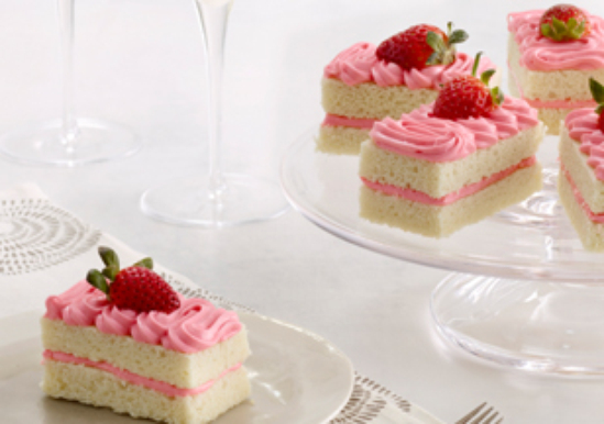 Strawberry Champagne Cakes