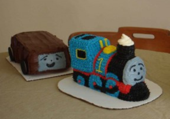 Thomas the Train w/Troublesome truck cake