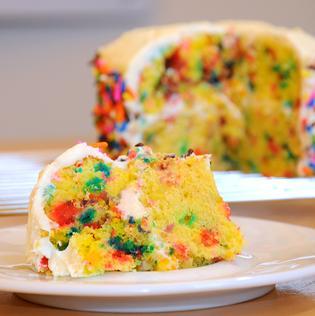 DIY Confetti Cake