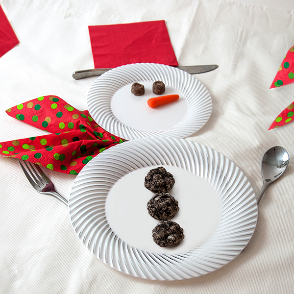 Decorative Snowman Place Setting