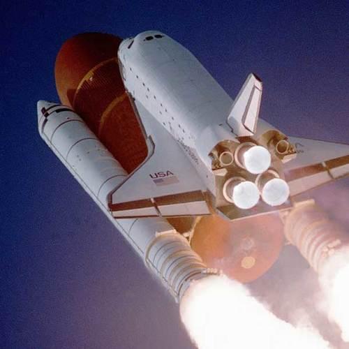 Flight sky earth space
