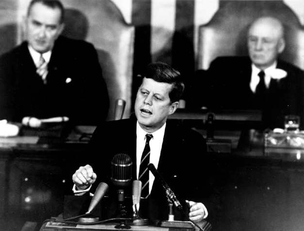 Kennedy's inspiring words to Congress