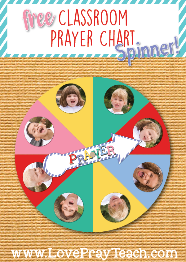 Free Classroom Prayer Chart Spinner