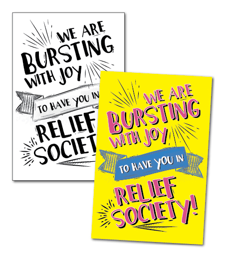 Welcome to Relief Society free handout