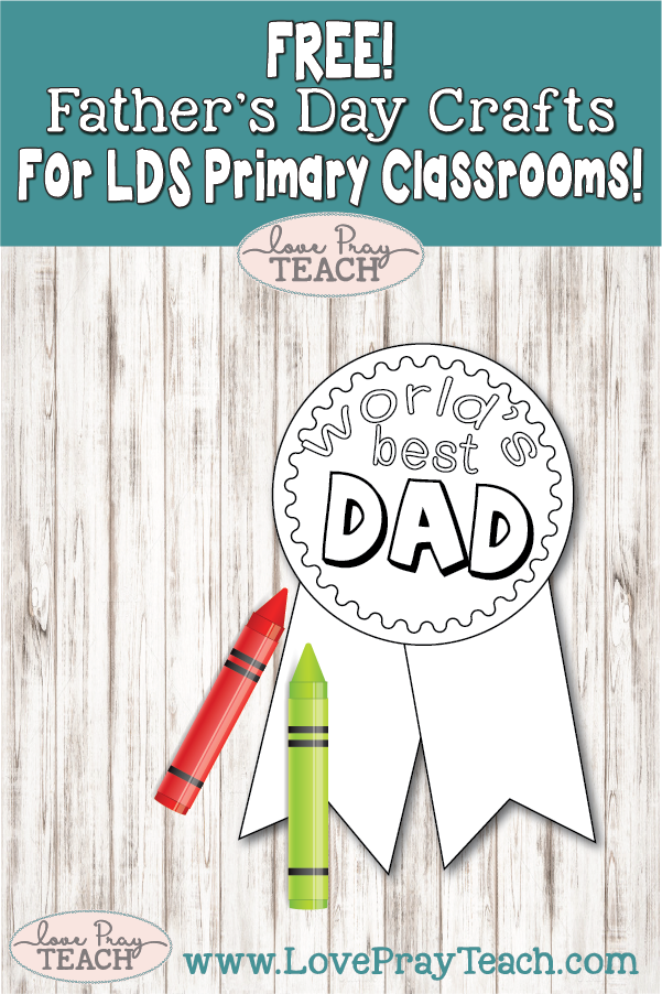 Free Father's Day badge! www.LovePrayTeach.com