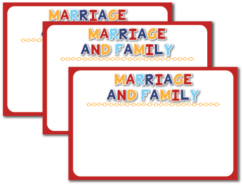 Individual Lesson helps packet for Come Follow Me August Youth Sunday School:How can I explain the importance of marriage and family to others?