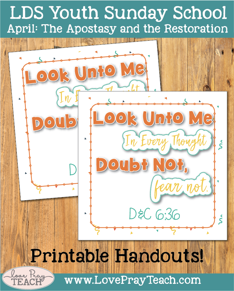 The individual lesson helps packet for Come Follow MeYouth Sunday School April: Why is it important to teach pure doctrine? Poster, object lesson, worksheet, and more.