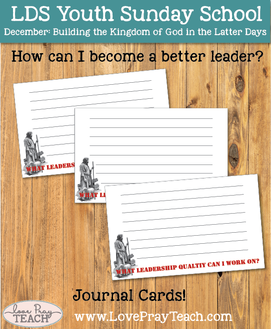 December Youth Sunday School: How can I become a better leader?