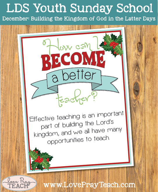 December Youth Sunday School: How can I become a better teacher?