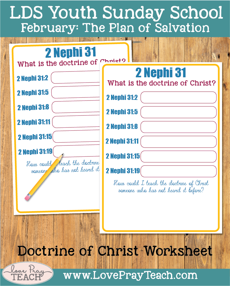 February Youth Sunday School:How can I help others understand the doctrine of Christ?
