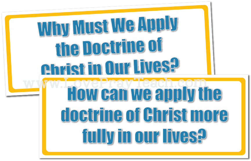February Youth Sunday School: How can I help others understand the doctrine of Christ?