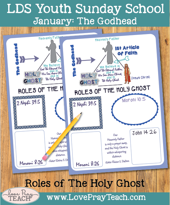 January Youth Sunday School: How does the Holy Ghost help me teach the gospel?