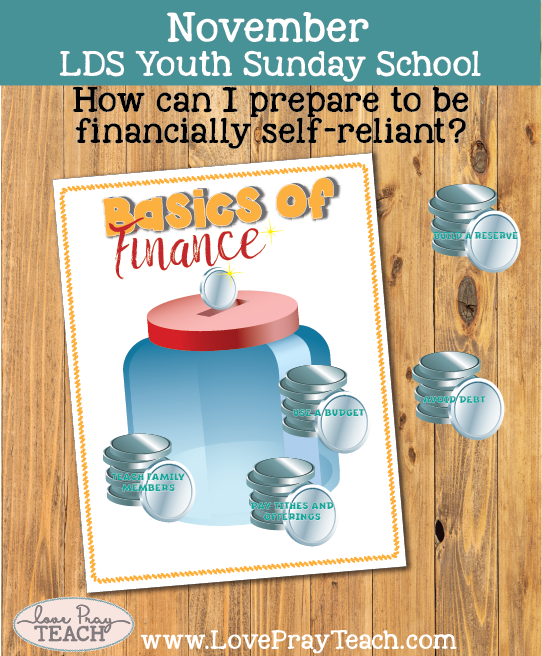 November Youth Sunday School: How can I prepare to be financially self-reliant