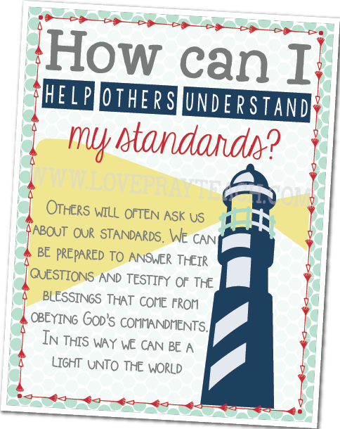 September Youth Sunday School How can I help others understand my standards?