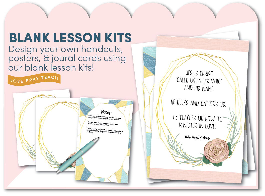 Blank Relief Society Lesson Kits