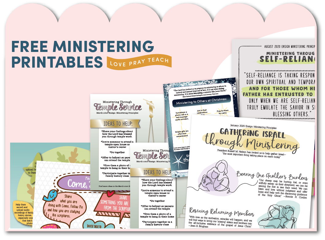 "2018 ""Ministering"" Handouts and Posters on www.LovePrayTeach.com"