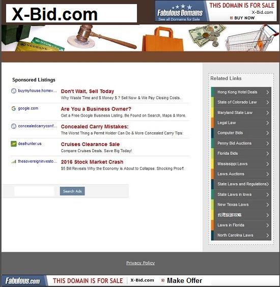 x-bid.com for sale