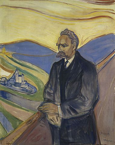Portrait of Friedrich Nietzsche by Edvard Munch, 1906.