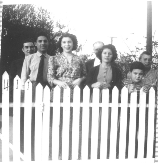 My grandfather (second from left) with relatives in the 1940s in East Los Angeles