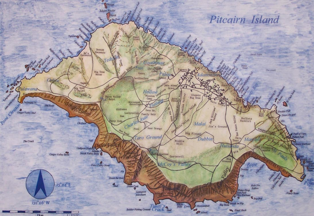 Pitcairn-Island-Map