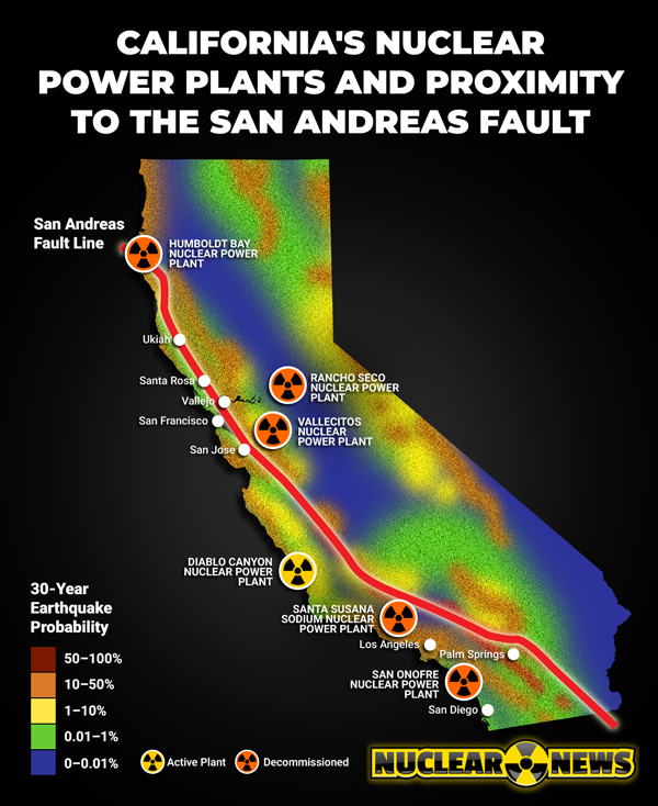 California's Nuclear Power Plants Built Close to the San Andreas Fault - The Reports