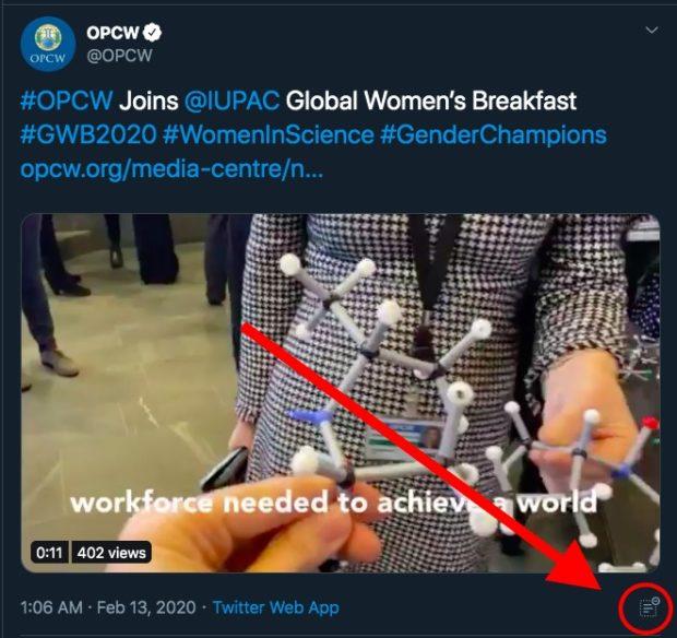 Scandal-Ridden OPCW Now Using Twitter's 'Hide Replies' Function