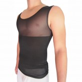 Nisgue Man Shirt Tummy Shaper Black Front