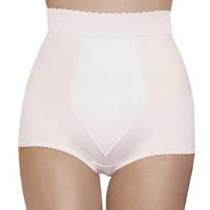 Rago High Waist Tummy Shaping Padded Panty Girdle White Front