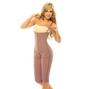Siluet Postpartum High Compression Long Leg Full Body Shaper Purple Front