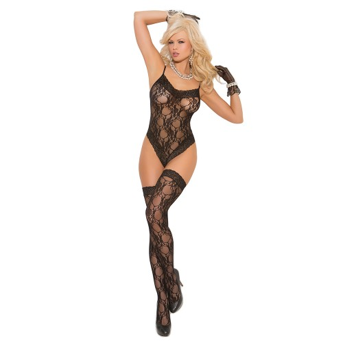 Elegant Moments Lace Teddy Front