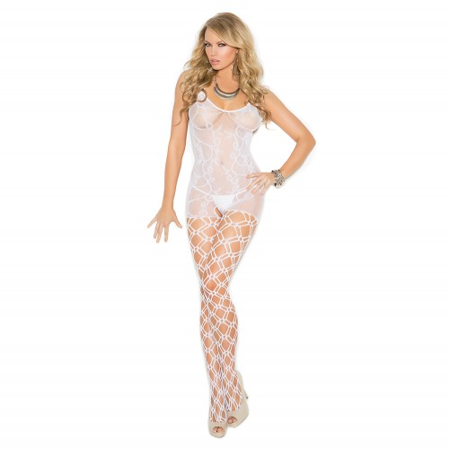 Elegant Moments Crochet Bodystocking Front
