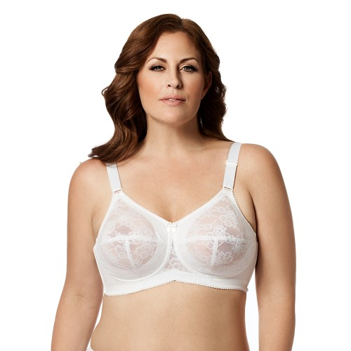 Elila Lace Soft Cup Bra White Front