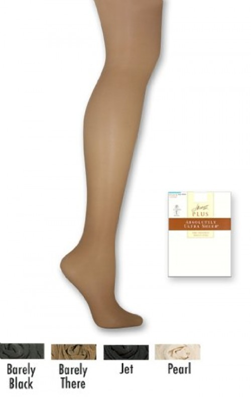Hanes Plus Absolutely Ultra Sheer Control Top SF Pantyhose Side
