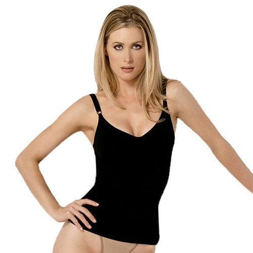 Julie France Seamless Control Camisole Black Front