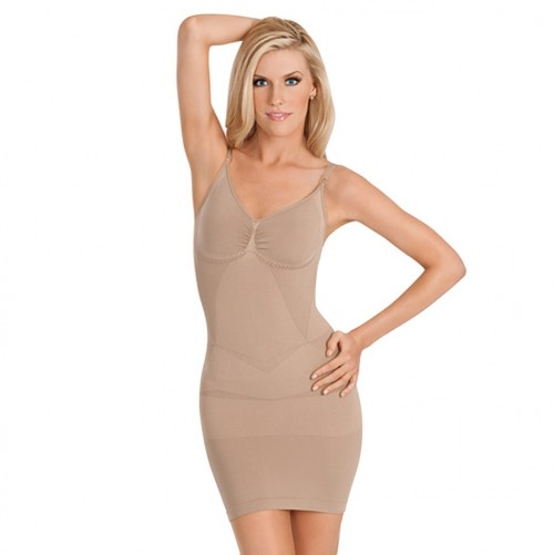 Julie France Seamless Control Dress Slip Nude Front