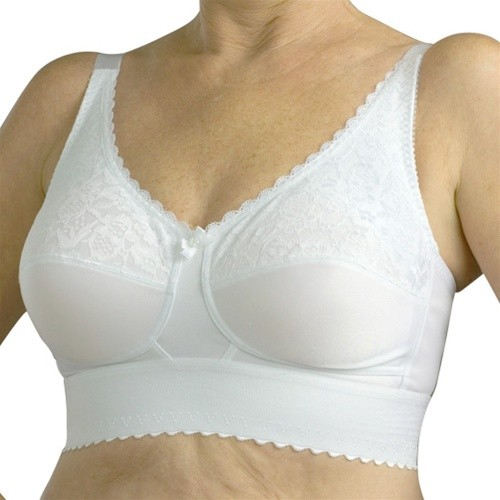 Nearly Me Lace Wide Band Soft Cup Mastectomy Bra Style 610