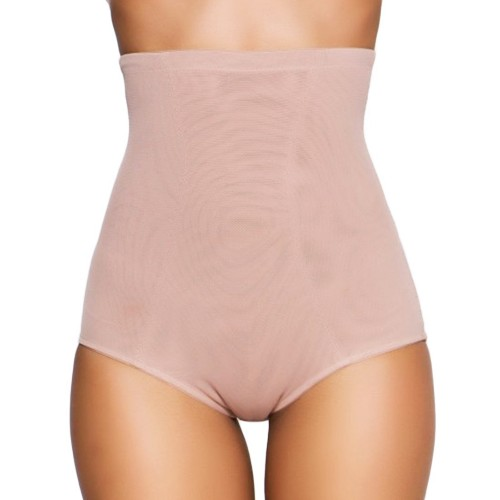 QT Intimates High Waist Brief with Rear Push Up Mocha Front