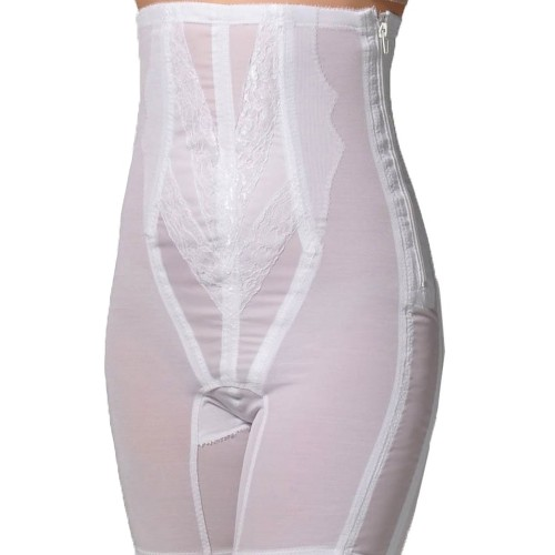 Rago Back Support High-Waist Long Leg Pantie Girdle