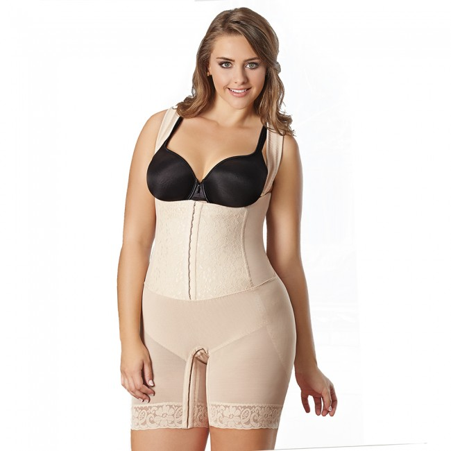 2415e91ad26 CoCoon Full Body High Compression Wonder Shaper Plus Size Nude Front