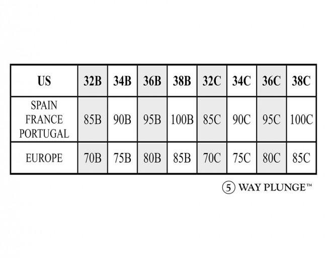 c957e67209 Braza 5 Way Plunge Bra Sizing Chart