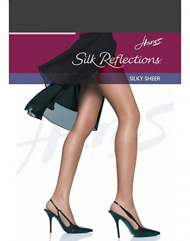 d1d0300018319 Hanes Silk Reflections Silky Sheer RT Pantyhose Barely Black