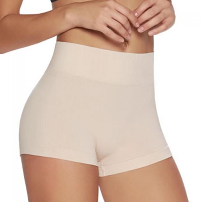 cd40524198862 TrueShapers Seamless Medium Control Shaping Panty Boyshort Nude Front