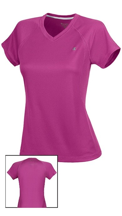 a253403000e8 Champion Women s V-Neck Training Vented Tee Style 7819