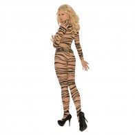 Elegant Moments Zebra Print Long Sleeve Bodystocking Style 1690