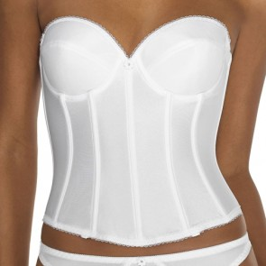 Dominique Satin Low Back Strapless Underwire Bustier Style 7750