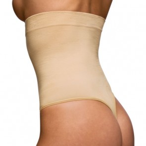Body Wrap Seamless High Waist Thong Back Pantie Girdle Style 44841