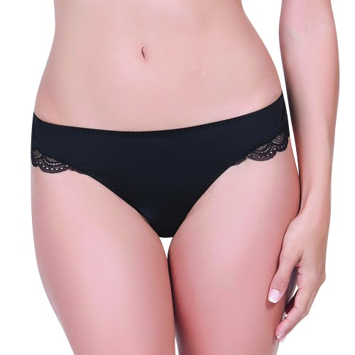 Affinitas Intimates Nicole Brazilian Thong Black Front